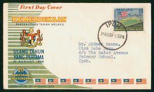 Mayfairstamps Malaya 1958 Kemerdekaan Ipoh 1st Anniversary Independence First Da