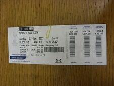 27/10/2013 BIGLIETTO: Tottenham Hotspur v Hull City (visitatori area). grazie per vi