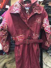 Powderhorn 1 pc snow suit ski RED Burgundy Pants Jacket Coat RN76601 sz 8
