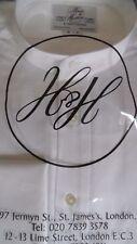 Harvie & Hudson 15.5/36 Cotton White NECKBAND Shirt - Double Cuff Reg Fit RP £75