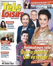 TELE LOISIRS N°1628 13/05/2017  ANIMATEURS TV_JENIFER_EUROVISION_NANTY_KOH-LANTA