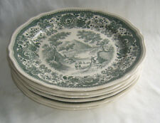 6 Villeroy & Boch METTLACH Porzellan Teller Speiseteller Burgenland grün