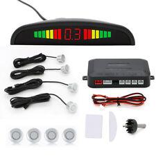Silver Auto Reverse Backup Radar System Parking Sensors LED Display Buzzer Alarm