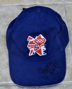 Joanna Rowsell Signed London 2012 Olympics Cap Cycling Gold Medal BNWT