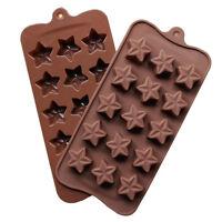 15 Hole Silicone Star Shape Mould Ice Candy Chocolate Cake Baking Mold  X