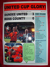 Dundee United 3 Ross County 0 - 2010 Scottish Cup final - souvenir print