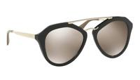 Prada Damen Sonnenbrille SPR12Q 1AB-1C0 54mm verspiegelt schwarz P DD2 H