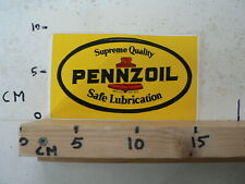 STICKER,DECAL PENNZOIL SAFE LUBRICATION SUPREME QUALITY A