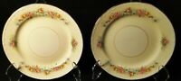 "Homer Laughlin Georgian G3523 Bread Plates 6 1/4"" Pink Roses Set of 2 Excellent"