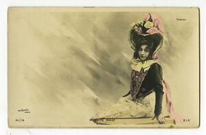 c 1901 French Theater Mariette SULLY theatre Trianon early photo postcard