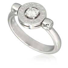 Bvlgari Bvlgari 18K White Gold Diamond Ring Size 7