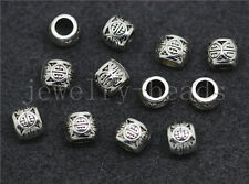 New 20/100/500pcs Tibetan Silver Cylinder Spacer beads Charms Jewelry DIY 6x5mm