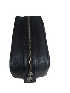 Coach Pebbled Leather  Travel Kit Toiletry Case Shave Bag  $195 Black 22206 Dopp