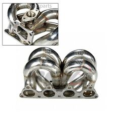 Civic D-Series D15 D16 EG EK Equal Length Stainless T3/T4 Turbo Exhaust Manifold