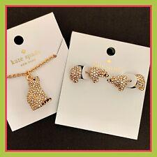 Kate Spade 12k Gold Plated Cold Comforts Polar Bear Stud Earrings Wbrub564