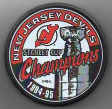 96c1a2999 New Jersey Devils 1995 NHL Stanley Cup Champions Hockey Puck + FREE Cube