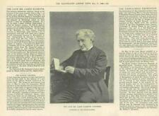 1890 antica stampa-Le persone James naysmyth ingegnere inventore maglio a vapore (91 A)