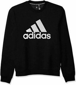 adidas Men's Badge of Sport Fleece Sweatshirt, Black, Size  NNKy