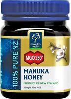 NEW Manuka Health MGO 250+ 250g Manuka Honey-100% Pure New Zealand-FAST SHIPPING