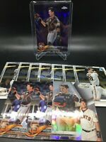 Buster Posey (11x) LOT w/ 2018 Topps Chrome Purple Refractor #/299 + More- *DES*