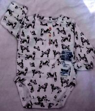 Baby Girl Long Sleeve One Piece Outfit,  Dog Print 100% Cotton sz 3 months