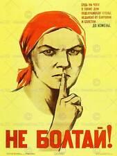 WAR PROPAGANDA WW2 SOVIET UNION GOSSIP VINTAGE RETRO ADVERTISING POSTER 2757PY
