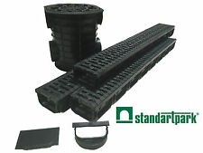 "Standartpark - 4""inch trench drain - 3 pack with catch basin - Spark"
