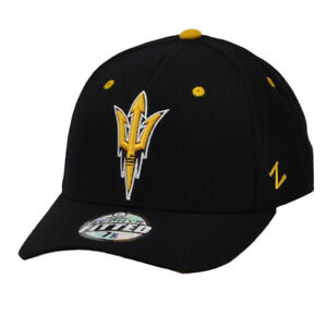 NCAA Original Zephyr Arizona St Sun Devils Fitted Size Black Hat Cap Curved Bil