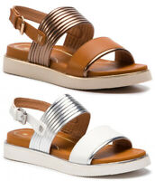 WRANGLER CLIPPER KAREN scarpe sandali donna bassi pelle zeppa plateau tacco