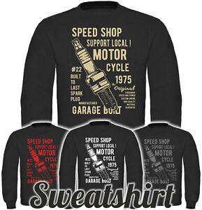 Spark Plugs Herren Männer Sweatshirt Motorrad Custom Männer Pullover Oldschool