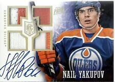 2013-14 Panini Prime Hologold #120 Nail Yakupov Jersey Auto RC 22/25 Oilers