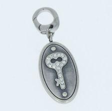 Charm Charms Anhänger von Fossil Medallion mit Schlüssel Farbe silber Edelstahl