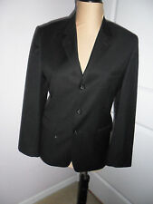 VAN HEUSEN Men's S-18 Black Suit Sport Coat Blazer Lined 3 button Polyester NEW