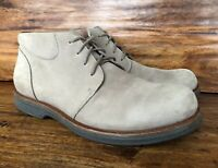 Mens Dansko Casual Chukka Boots Gray/Beige Suede Leather Size EU 46 US 12, 12.5
