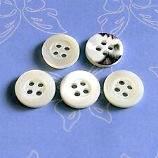 15 Real Trocas Shell Shirt Clothing Clothes Sew On Button 10mm Dull Natural D248