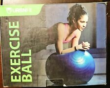 Urbnfit Blue Exercise Ball (55 Cm) for Fitness Quick Pump Included