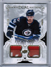 16/17 UD EXQUISITE JOSH MORRISSEY ROOKIE DUAL MATERIAL PATCH 65/99 WINNIPEG JETS