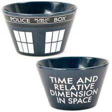 DOCTOR WHO TARDIS CERAMIC BOWL DR RETRO POLICE BOX CEREAL SOUP DESSERT OFFICIAL