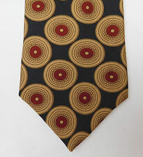 Omni silk tie pattern with teeth corporate dentist dental practice vintage