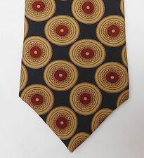 Omni silk tie pattern with teeth corporate dentist dental practice vintage