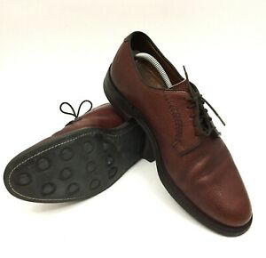 Cole Haan Mens Burgundy Sz 10.5 US Dainite Sole Derby Pebbled Leather Shoes