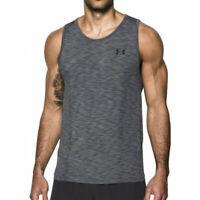 Under Armour UA Threadborne Mens Seamless Tank Grey Gym Sports Training Vest