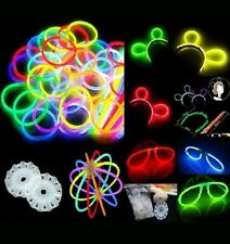 Glow Stick Party Pack-Premium bracelets necklaces kits to create glasses flowers