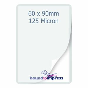 60x90mm Business Card Pouches - 125 Mic (Pkt 100), PF-PPR525-08