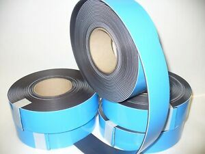 Adhesive Foam Bkd  Magnetic Tape.Strip 50mm x 1.5mm x 10mtrs  Total Thick 2.5mm