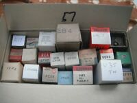BOX OF BOXED NEW VALVES TUBES VINTAGE RADIO ETC CHEAP TO CLEAR BX57