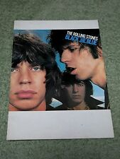 THE ROLLING STONES black and blue 1976 European Tour Programme!