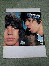 THE ROLLING STONES black and blue 1976 European Tour Programme!