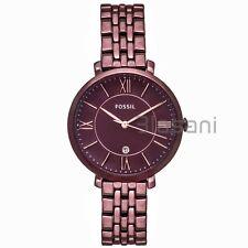 Fossil Original ES4100 Women's Jacqueline Wine Stainless Steel Watch 36mm