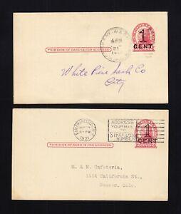 UX35, UPSS #S47-1 & S47-2 USED Postal Cards, UPSS Cat. $77.50